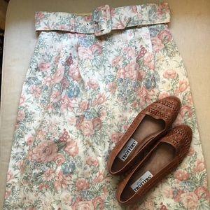 Vintage Victorian Floral Patterned A-Line Skirt